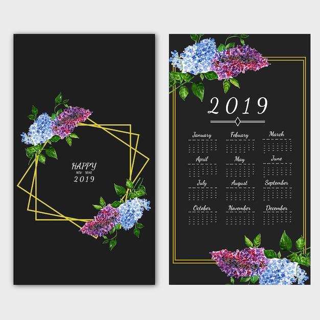 Kalendarz noworoczny Premium Wektorów