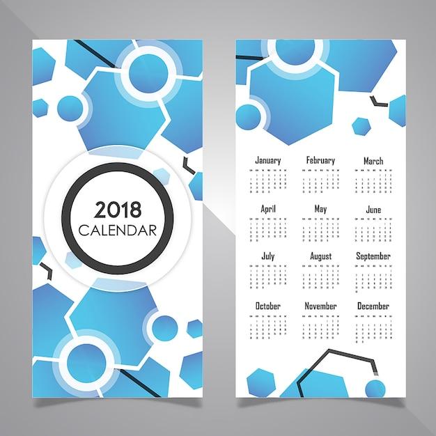 Kalendarz Projektowania Plakatów Darmowych Wektorów