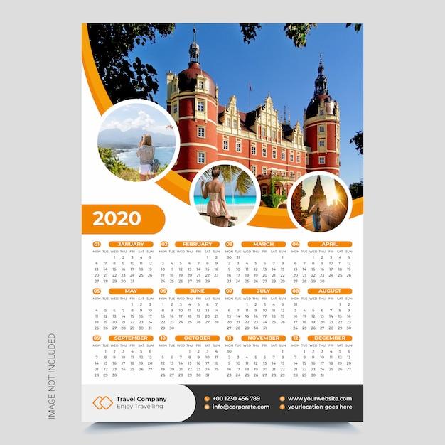 Kalendarz ścienny Premium Wektorów