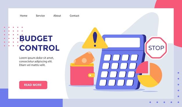 Kalkulator Kontroli Budżetu Tło Kampanii Pieniężnej Wykresu Kołowego Premium Wektorów