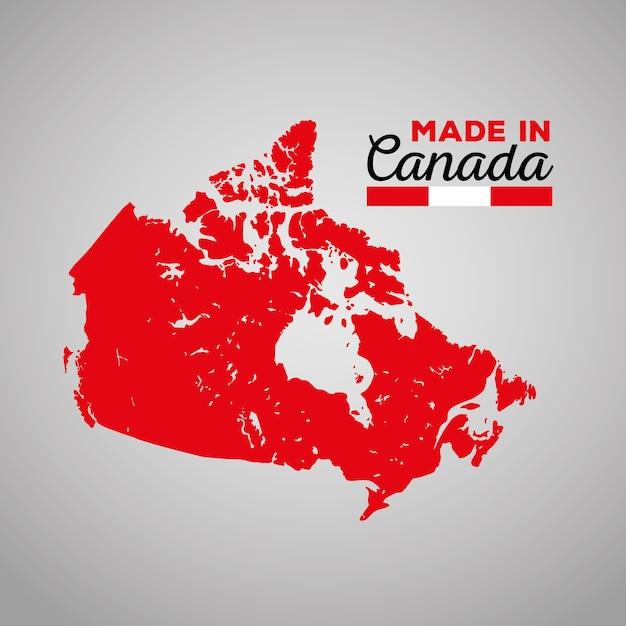 Kanadyjska Mapa Sylwetka Ikona Wektor Ilustracja Projektu Premium Wektorów