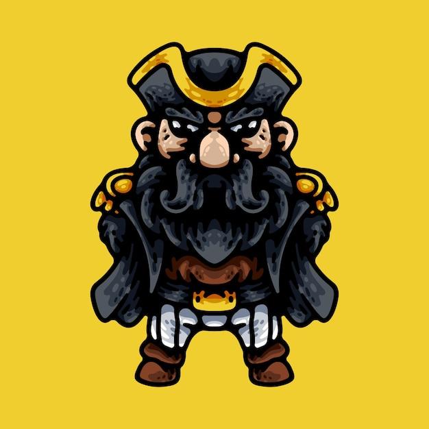 Kapitan Piratów Premium Wektorów