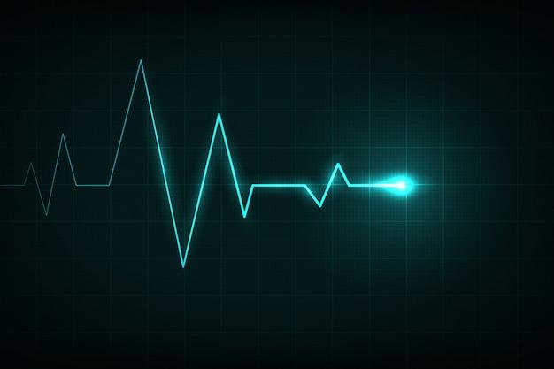 Kardiogram linii serca, puls medyczny. Premium Wektorów