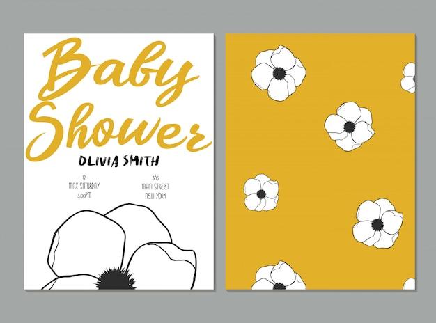 Karta Baby Shower Premium Wektorów