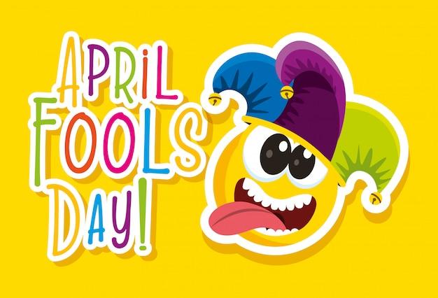 Karta dnia prima aprilis Premium Wektorów
