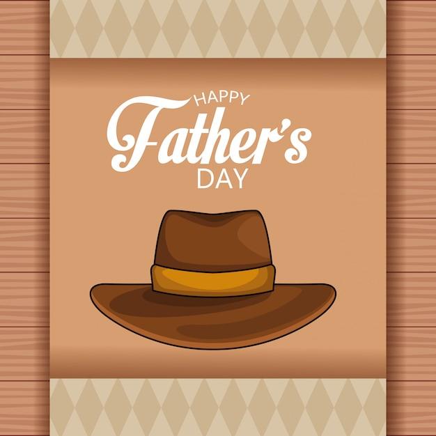 Karta Dnia Szczęśliwych Ojców Premium Wektorów