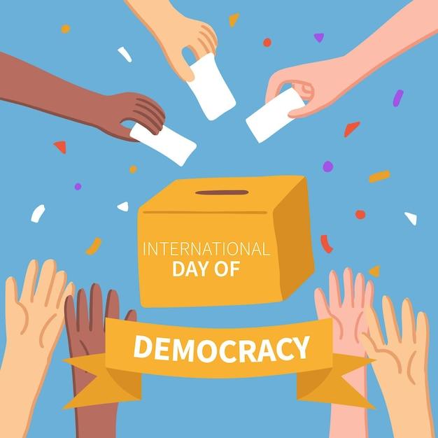Karta Do Głosowania I Wielorasowy Dzień Koncepcji Demokracji Darmowych Wektorów