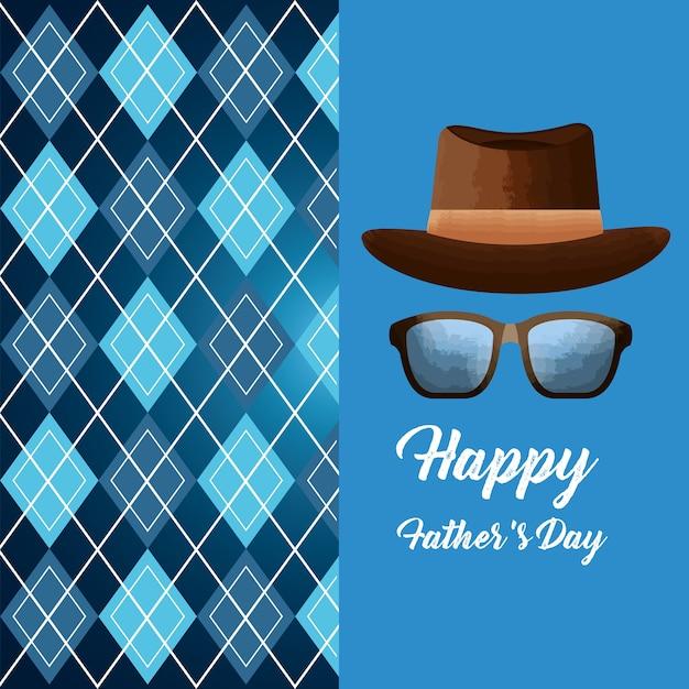Karta Dzień Szczęśliwy Ojców Premium Wektorów