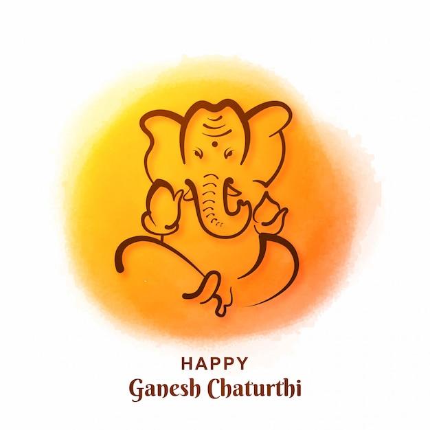 Karta Festiwalu Ganesh Chaturthi Darmowych Wektorów