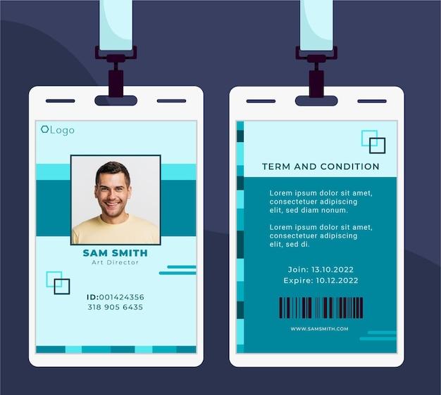 Karta Identyfikacyjna O Minimalistycznym Wyglądzie Premium Wektorów