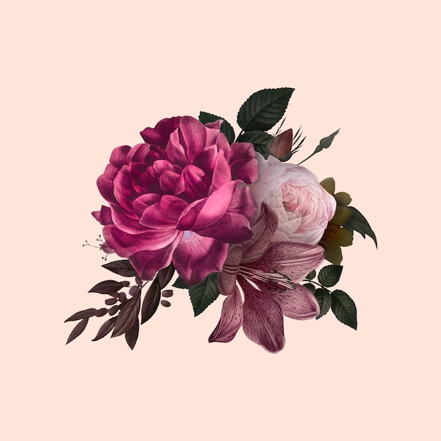 Karta kwiatowy Darmowych Wektorów