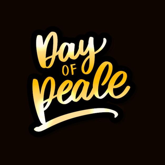 Karta Międzynarodowego Dnia Pokoju. Premium Wektorów