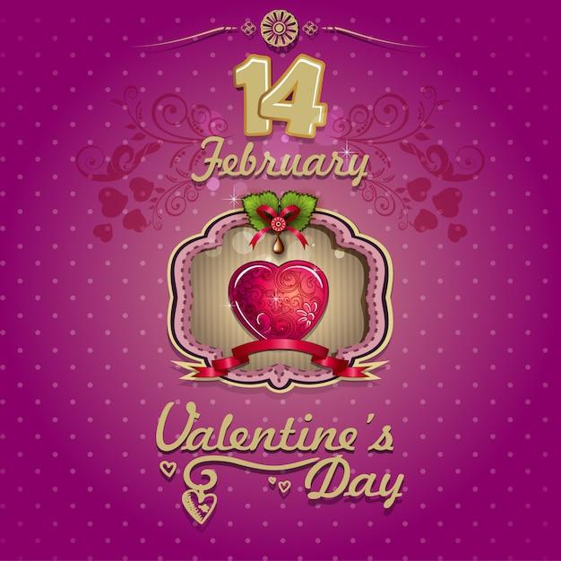 Karta Upominkowa Walentynki Wektor Premium Pobieranie