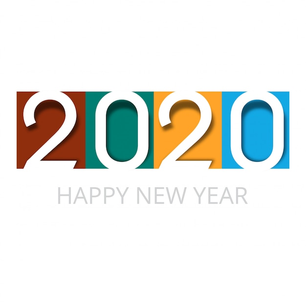 Karta Uroczystości 2020 Szczęśliwego Nowego Roku Darmowych Wektorów
