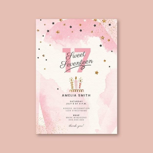 Karta Urodzinowa Darmowych Wektorów