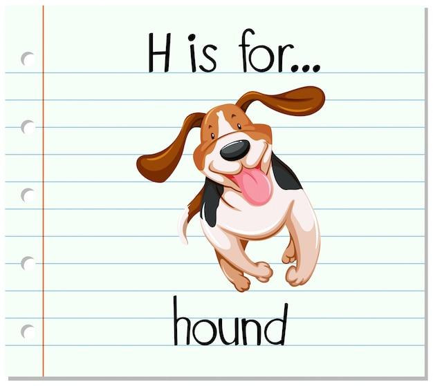 Kartami litera h jest dla psa Darmowych Wektorów