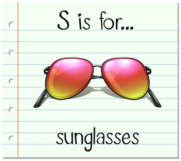 Kartami litera s służy do okularów przeciwsłonecznych Darmowych Wektorów
