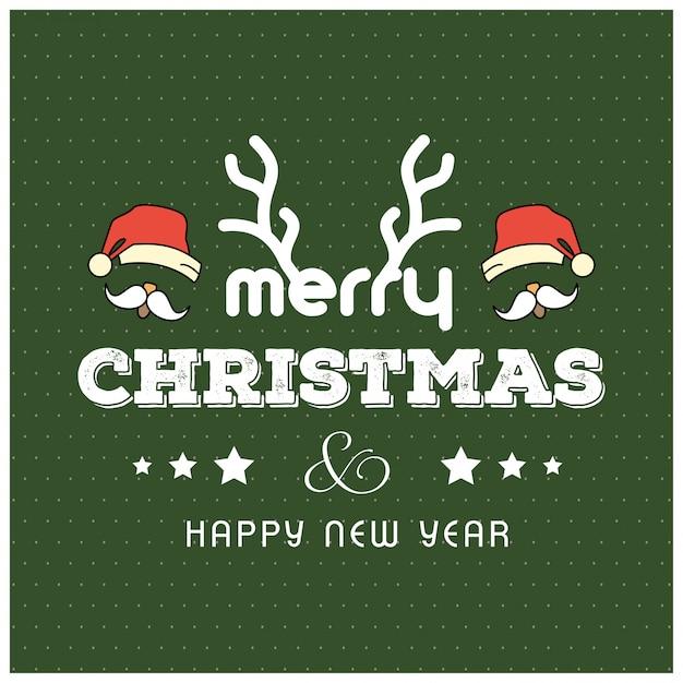 Kartka świąteczna pozdrowienia Darmowych Wektorów