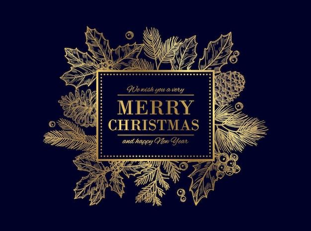 Kartka świąteczna Premium Wektorów