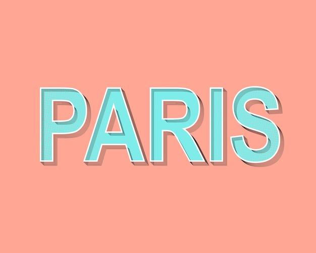 Kartka z życzeniami z napisem paryż. Premium Wektorów