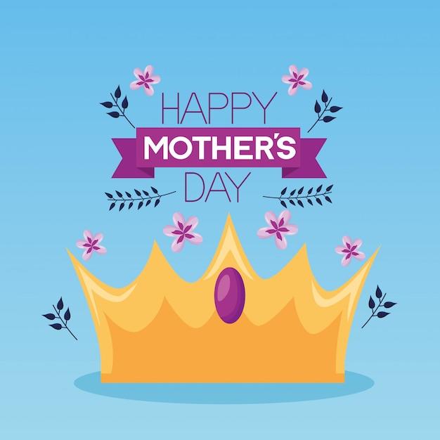 Kartkę Z życzeniami Dzień Matki Happy Darmowych Wektorów