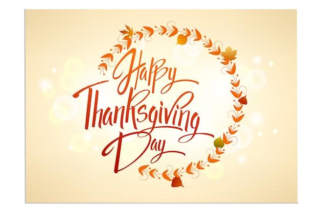 Kartkę z życzeniami happy thanskgiving day Premium Wektorów
