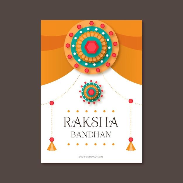 Kartkę Z życzeniami Płaskie Raksha Bandhan Darmowych Wektorów