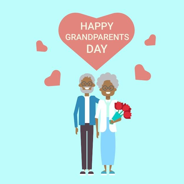 Kartkę z życzeniami szczęśliwego dnia dziadków Premium Wektorów