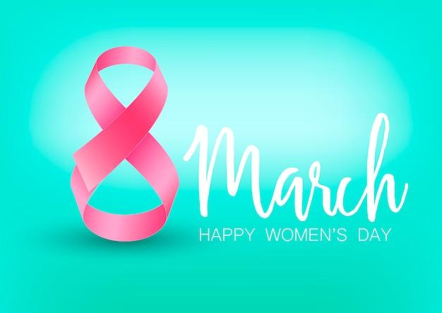 Kartkę z życzeniami szczęśliwego dnia kobiet. Premium Wektorów