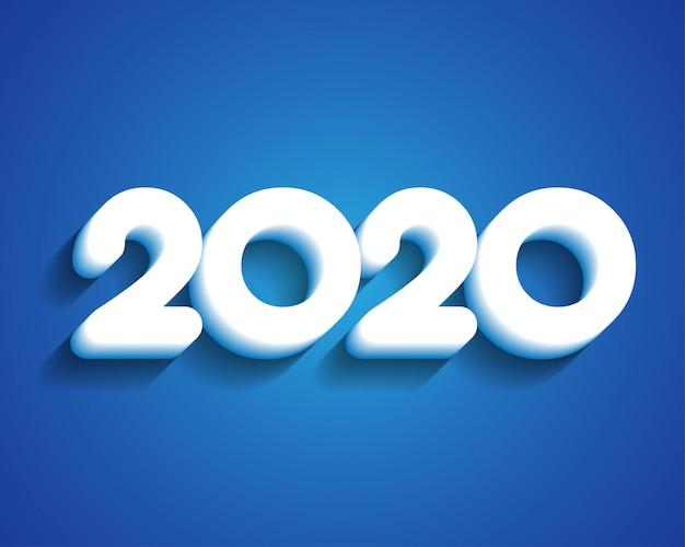 Kartkę Z życzeniami Szczęśliwego Nowego Roku 2020 Premium Wektorów