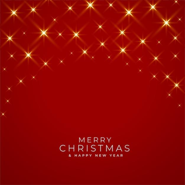 Kartkę Z życzeniami Wesołych świąt I Nowego Roku Z Błyszczącymi światłami Na Czerwono Darmowych Wektorów