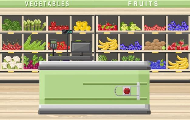 Kasjer Supermarketowy Premium Wektorów
