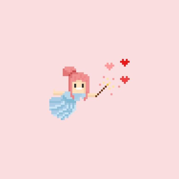 Kąt Pikseli Robi Magiczną Miłość Premium Wektorów