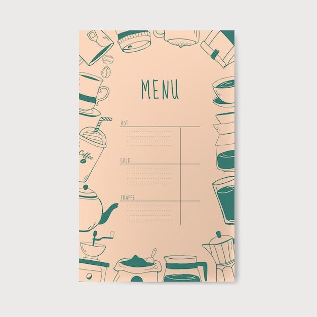 Kawiarnia i kawiarnia menu wektor Darmowych Wektorów