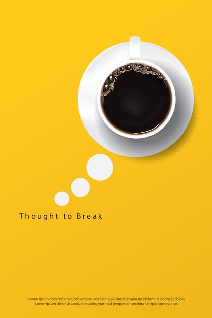 Kawowa Plakatowa Reklama Flayers Wektoru Ilustracja Premium Wektorów