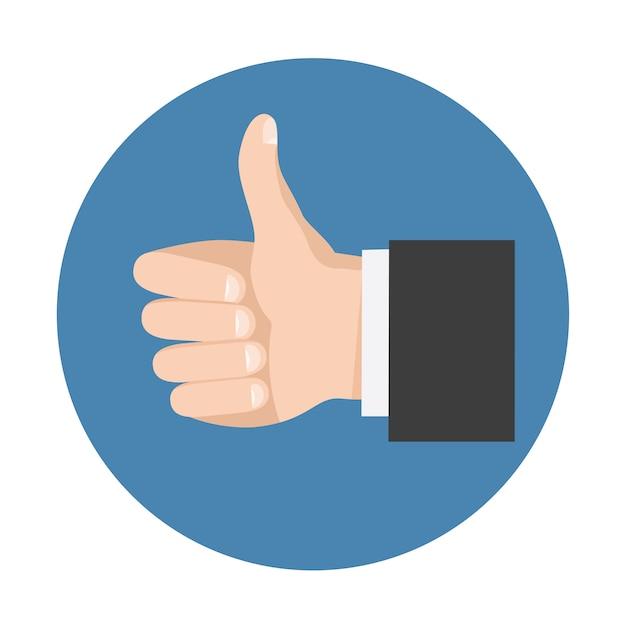 Kciuk w górę symbol sieci społecznościowej Premium Wektorów