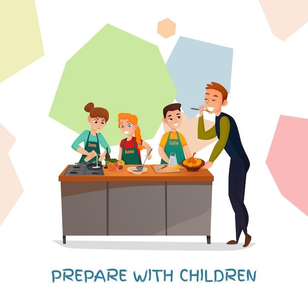 Kids Culinary Show Darmowych Wektorów