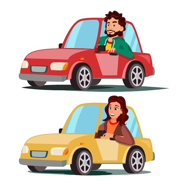 Kierowcy Premium Wektorów