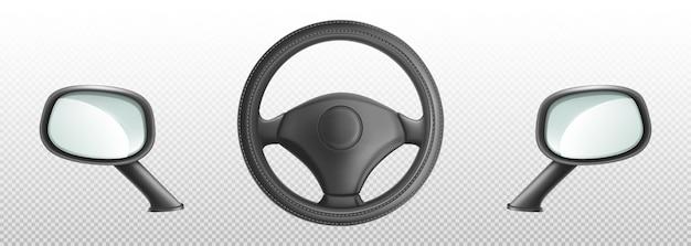 Kierownica Samochodu I Boczne Lusterka Wsteczne Darmowych Wektorów