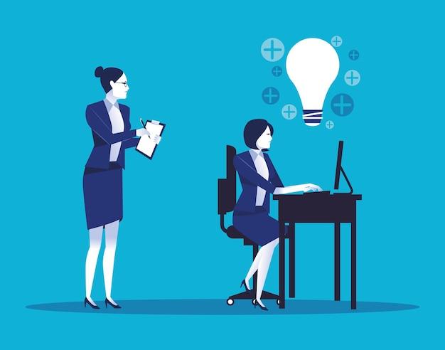 Kilka Eleganckich Przedsiębiorców Pracowników Avatary Znaków Ilustracji Premium Wektorów