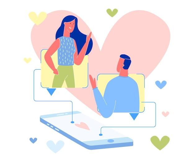 Kilka sms-ów w internecie. aplikacja randkowa online Premium Wektorów