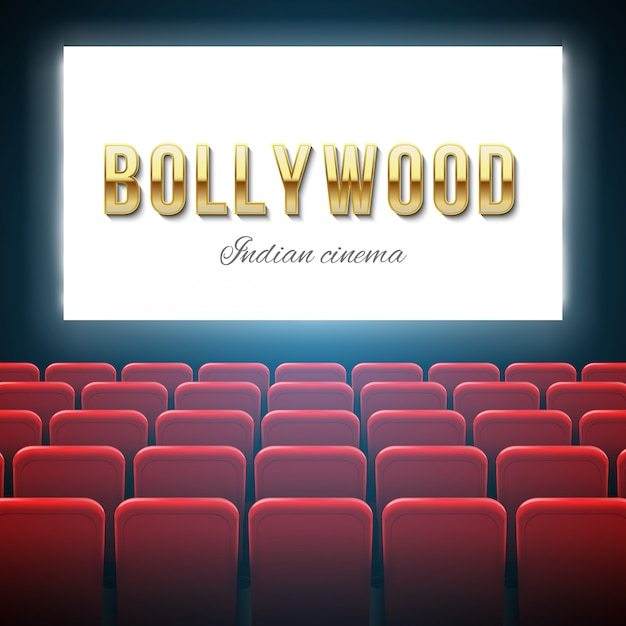 Kino bollywood, film indyjski, zdjęcia. Premium Wektorów