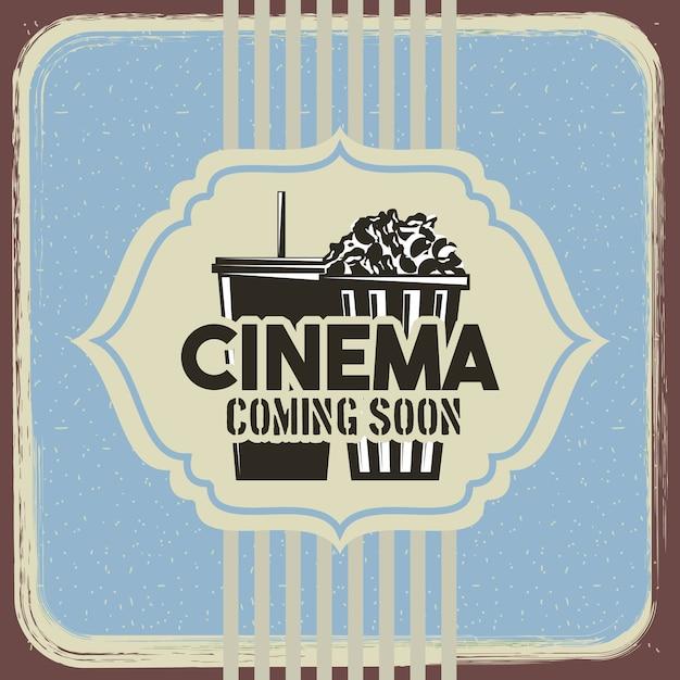 Kino Retro Plakat Premium Wektorów