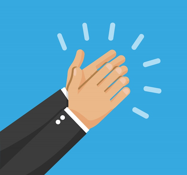 Klaskanie Ręce Wektor Premium Wektorów