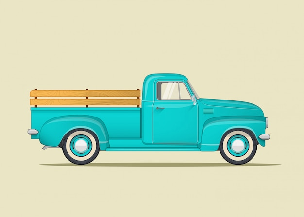 Klasyczna Ciężarówka Premium Wektorów