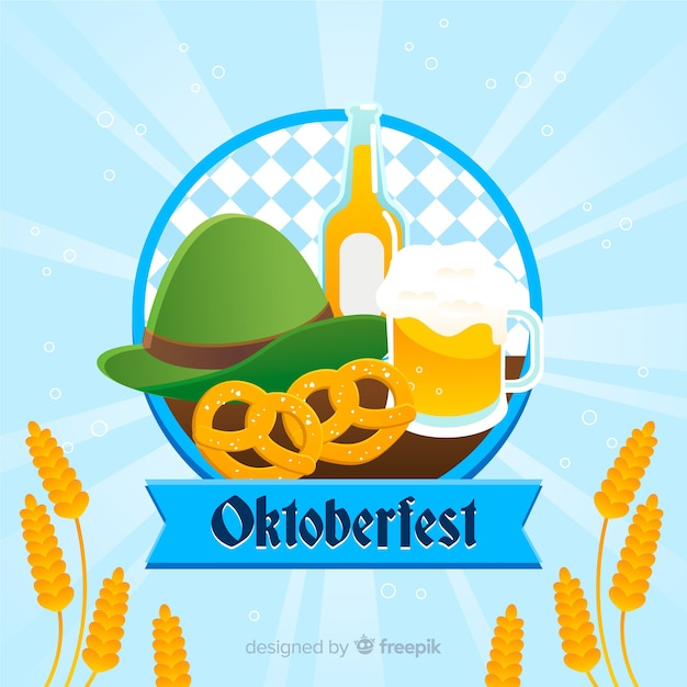 Klasyczna Kompozycja Oktoberfestu Z Płaską Konstrukcją Darmowych Wektorów