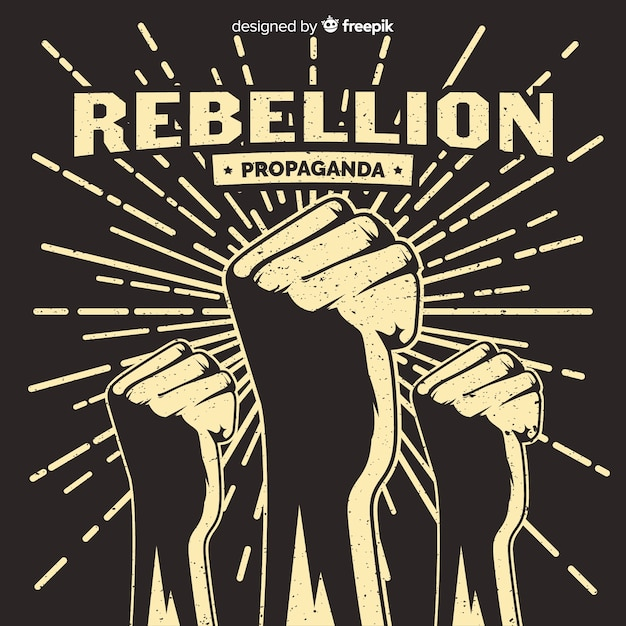 Klasyczna Kompozycja Rewolucyjna W Stylu Grunge Darmowych Wektorów