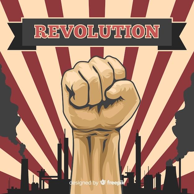 Klasyczna Kompozycja Rewolucyjna W Stylu Vintage Darmowych Wektorów