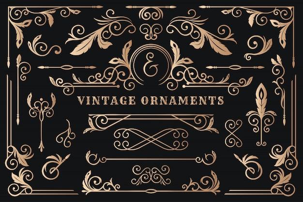 Klasyczna Ornament Rama, Rocznik Rabatowa Ilustracja Premium Wektorów