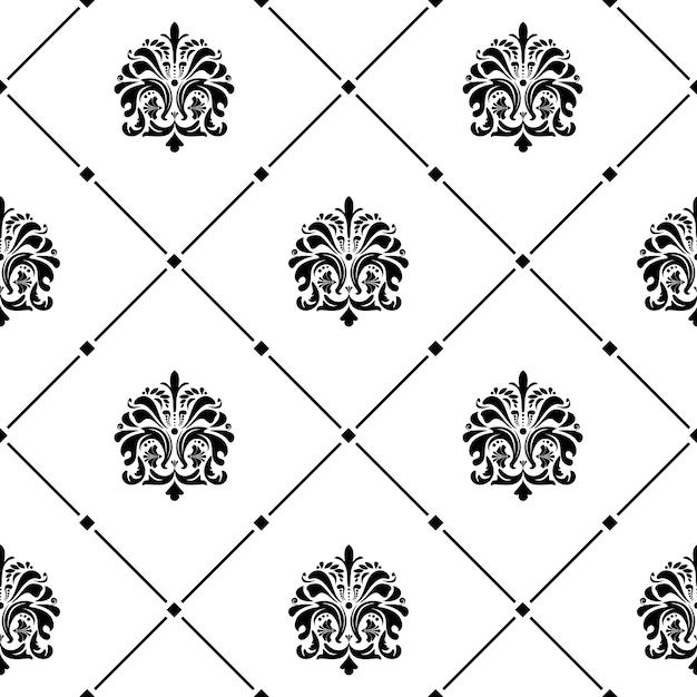 Klasyczny Luksusowy Staromodny Ornament Bez Szwu Tekstury Darmowych Wektorów